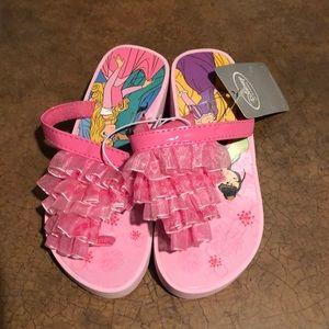 NWT Kids Disney Princess Flip Flops